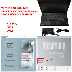 T420 laptop diagnostic PC 4g ram i5 CPU with MB Star Diagnosis SD compact C4 C5 C6 V2020.09 soft-ware hdd or ssd installed well