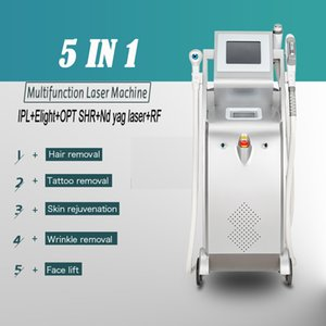 Beauty shop equipment elight shr multifunction wrinkle removal nd yag laser tatoo removal machine 2 years warranty