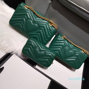 Women Marmont bag Luxury Handbags Premium Designer Handbags Soft Genuine Leather Ladies Shoulder Bags Heart V Wave Crossbody Pattern ct01