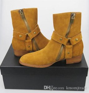 Man Side Zip Slp Classic Wyatt 40 Harness Boots Rock Roll Western Boots Shoes Paris Fashion Kanye West Boots