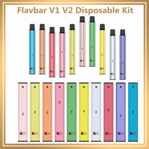 Autentico Flavbar V1 V2 monouso Pod kit del dispositivo 300 1000 i soffi 650mAh 2.8ml baccelli Vape svuotare penna VS bar soffio inclusa XXL 100% originale