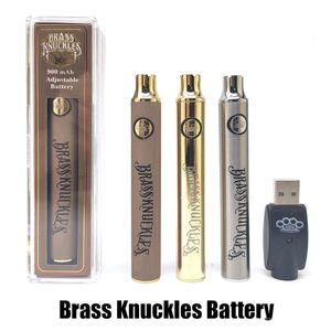 Bateria de bronze Bateria 900mAh Gold Wood prata Prata Pré-aqueça Ajustável Vape Pen BK 510 Bateria de thread para cartuchos de caneta Vape vazio