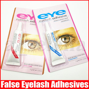 Nova pestana Adhesive 9g 32 onças Falso Waterproof Eye Lash Adhesives Glue Tone White Clear escuro com embalagem prática frete grátis