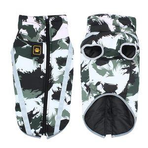 Big Dog Vest Jacken-Mantel-Winter-Wasserdichte warme Haustier-Kleidung für kleine Große Hunde Chihuahua Mops Französisch Bulldog Kleidung L-4XL