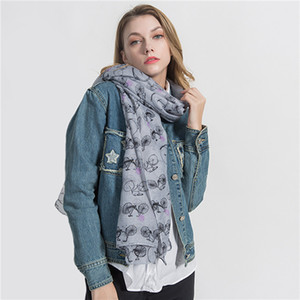 Taobao spring and autumn bicycle design new Silk Scarf Shawl