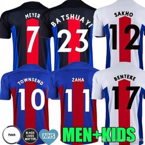 Hommes + enfants 20 21 Crystal Soccer Jerseys 2020 2021 Zaha Milivojevic Townsend Sakho Benteke Batshuayi Chemises de football Palais Uniforme Thaïlande