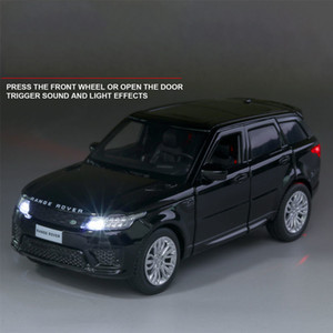 Land-Rover Sports Free Rover Range Shipping Alloy Car 1:32 Model Sound and Light Back Children Toys Favorite