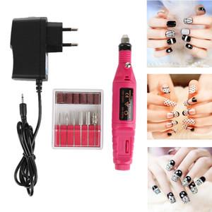 1pc EU   US Plug Electric nail drilling machine nail file manicure machine drill bit tool pedicure apparatus nail supplies TSLM1