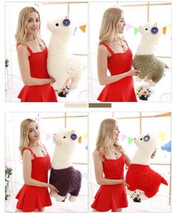 크리 에이 티브 Alpaca 플러시 장난감 인형 Alpaca 베개 귀여운 인형 Ragdoll 봉제 장난감 잠자는 베개 어린이 크리스마스 선물 생일 선물 EEF3976
