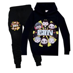 Big Boy-Kleidung-Kind-Fall-Kleidung Teens FGTEEV Spiel Cartoon Big Brother Set GURKEY Funnel Vision-mit Kapuze T-Shirt Mädchen X0923 Tops