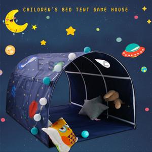 Casa de juegos para niños portátil Playuntent para niños plegable Pequeño dormitorio Decoración de la tienda Tienda de teatro Tunnel Toy Ball Ball Bed Tienda Q1110