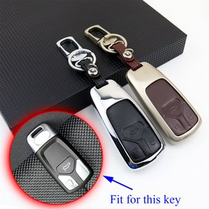 Smart Car Key Holder Bag Case Fob Shell Ring Chain Holder Pack Box Protector Cover For Audi A4L A4 Q7 TT TTS RS 2017-2018 Accessories