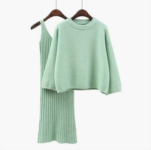 Sweater Woman Pullover Long Sleeve Ladies Pullover Knit Top High Waist Knit Sling 2020 Autumn Winter New Color QK368