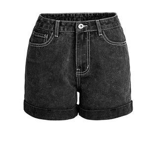 High Waist Denim Shorts für Frauen Stretch beiläufige grundlegende Jeans Shorts Qualität plus Größe Sommer Frühling Weibliche 3XL K907