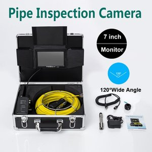 20M Cable 23MM Camera Head Pipe Drain Sewer Inspection 7'' TFT LCD IP68 Waterproof 12V 4500mAh Battery