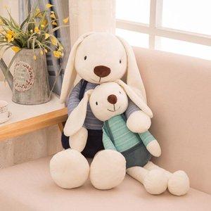40 cm Bunny Peluş Tavşan Bebek Oyuncakları Sevimli Yumuşak Kumaş Dolması Hayvanlar Tavşan Ev Dekor Çocuklar Için Bebek Yatıştırıcı Oyuncaklar Hediye 2021