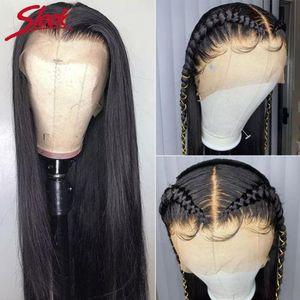 360 en dentelle pleine perruque de cheveux humains Pré Plucke pour les femmes noires droit brésilien perruques de cheveux humains avant de dentelle Hd 360 Frontal perruque Hd