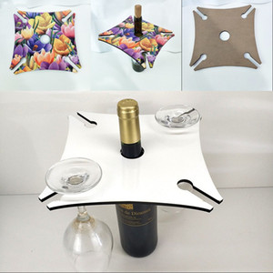 Sublimation Blank Stemware Rack Table Storage Goblet Holders Square Wood Wine Holder Portable Party White 10 5bd G2