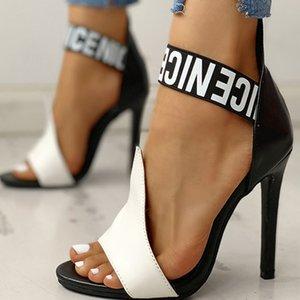 2021 Новые Женские Насосы Высокие каблуки Плюс Размер Обувь Тонкая Летние Сандалии Женский Сексуальная Вечеринка на женщине 1i7p
