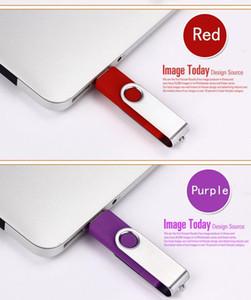 Atacado OTG USB Flash Drive 256MB Cor Rotary Pen Drive Memory Stick Logotipo Personalizado Multi-Color USB Pendriv Qylvhl Dh_Niceshop