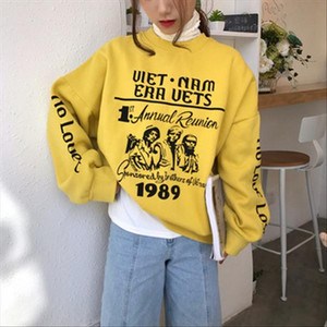 INS Super Fire Early Autumn Polo Hoodie Campus Smell GIRLS Hip Hop Lazy Chic High waisted on Clothes