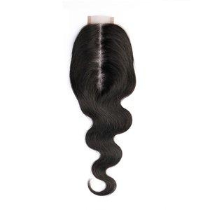 2x6 кружева закрывает кузовной волна натуральный цвет волос укладка волос человеческих волос 150% плотность с волосами младенца для черного