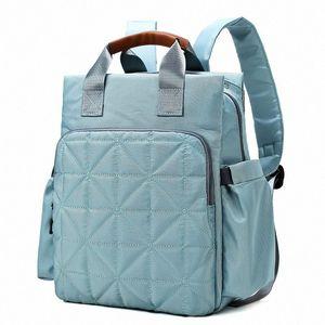 Umaubaby Nylon Diaper Sólidos Mochila Mummy viagem Bolsa Baby Stroller Bag Organizador Maternidade Fralda impermeável iQ3G #
