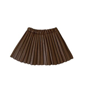 INS 2color fashion Pu leather girls skirts Pleated kids skirts princess short skirts s clothes kids girls clothes B3303