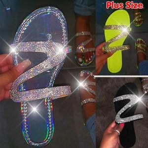 Kamucc 2020 Mulheres Nova Sandálias de Diamante em Forma de Z Diamante Requintado Feminino Não-Slip Lightweight Confortável FLIP-FLOPS1