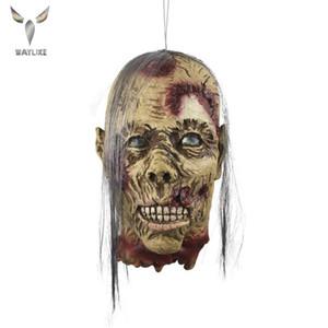Waylike Halloween Horror Mask Femme Momie Décapité Horreur latex Masque longue perruque Parti Props décoratif