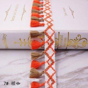 1 yards lot püskül saçak trim kumaş püsküller fringe dantel süslemeler perdeleri dekorasyon için püsküller ile DIY dikiş aksesuarları H bbyzbt