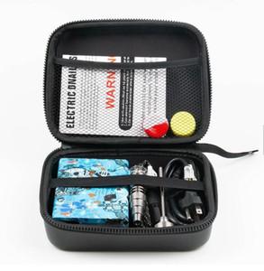 Portable ENail électrique Dab Nail Pen Rig Wax PID TC boîte avec Ti Titanium Domeless Heater Coil E quartz kit ongles pad de silicone