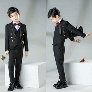 YuanLu 2020 Kids Suits For Boy Tuxedo Blazer Jacket For Wedding Party Piano Formal Prom Suit Black Children Clothes iHr3#