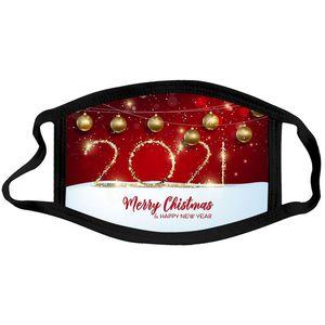 새해 얼굴 마스크 메리 크리스마스 인쇄 패션 빨 수있는 마스크 성인 어린이 Washable Deshigners 마스크 사용자 정의 GWF3750