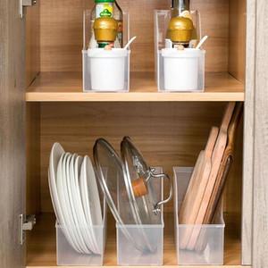 Кухонная пластиковая коробка кабинета Органайзер для хранения контейнеров для хранения Специи держатель Стол Специя Столовая посуда Ящик для хранения Чехол кухня Организатор1