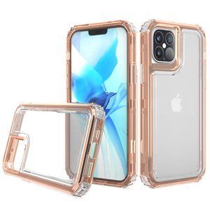 3 in 1 Crystal Clear Display Bumper Phone Case For iPhone 12 Max 6 7 8 11 Pro Xs XR Samsung Note 20 Ultra