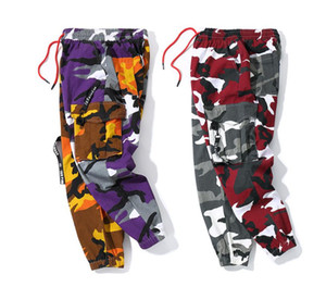 Mens Stylist Track Pant Casual Style Hoe Sell Man Camouflage Joggers Pants Track Pants Cargo Pant Trousers Elastic Waist Harem Men