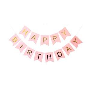 생일 파티 장식 페타 플래그 행잉 배너 플래그 윈도우 플래그 어린이 생일 파티 축하 플래그 EWD2638를 당겨