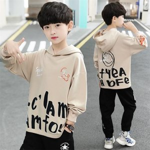 EACHIN Boys Hoodies Autumn Long Sleeve Sport Hoodies Coat Letter Print Kids Clothes Sweater Outerwear Hoodies Teens Boys Tops LJ201216