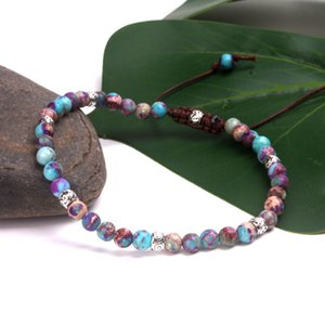 Premium Beads Skinny Bracelets Stone Japser Fancy Friendship Bracelets Lovers Couples Yoga Bracelet Jewelry dropshipping Y200918