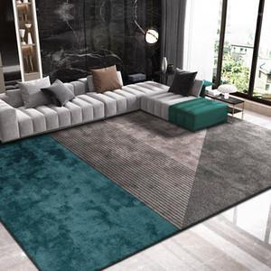 Tapetes de luxo nórdico para sala de estar casa casa tapete espessa sofá coffee mesa desgrenhada tapete moderno soft study quarto mat1