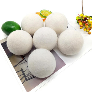 6CM Wool Dry Ball Premium Reusable Natural Fabric Felt Balls Reduce Static Helps Dry Clothes In Laundry Quicker Laundry Ball OWD2467