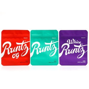 Runtz OG Mylar Bag White 3.5g Purple Red Green Zipper Bag 3.5g Smell Proof Childproof Dustproof Storage gummies edibles packaging bags