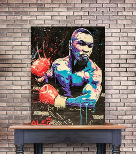 Living Home Room Monopoly Mike Canvas Art Oil Prints Graffiti Wall Alec Pictures Tyson Painting Boxing Abstract Art For Poster bbyXq