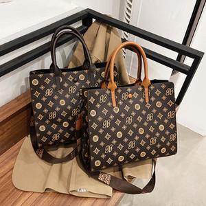 women's 2021 new fashion high capacity broadband One Shoulder Messenger Tote bag atmosphere commuter handbag