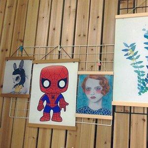 Pine Wood Magnetic Poster Hanger Natural Frame Hanger Frame Painting Photo Wall Art Craft Art ZM729