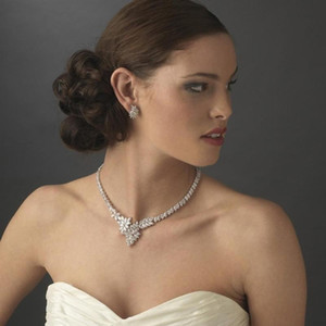 GLAMing فاخر زركون الزفاف القلائد للمرأة ورق عنب الزفاف تشيكوسلوفاكيا الزركون قلادة مجوهرات اكسسوارات