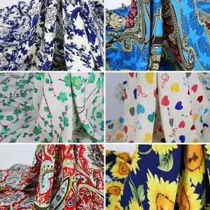 Yumuşak Elbise Kumaş Rayon Viskon Pamuk Malzeme Patchwork 100 * 145cm