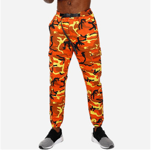 Orange Camouflage Joggers Pants Men Fashion Tactical Skinny Trousers Sports Pants Harem Camo Pink For Men Women