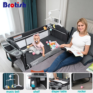 Brotish recién nacido cama multifuncional cuna costura, ropa de cama cuna del recién nacido, la cama juego, cuna portátil plegable fácil de viajes 1023